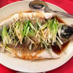 Steamed Sea Bass with Spring Onion and Ginger