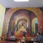 one side wall mural