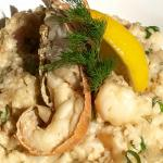 May Special: Queens Risotto, Bug meat and blue swimmer crab meat w spanish onion, shallots, fres