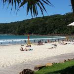 Noosa beach, just walk across Hastings Street