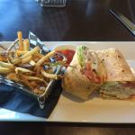 Marinated Chicken Wrap and fries