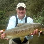 Fly fishing for brown trout at Poronui