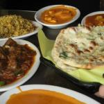 Aangan Indian Restaurant Range of curries