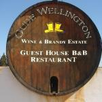 Entrance on Bainskloof to Oude Wellington Restaurant