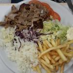 Excellente assiette kebab