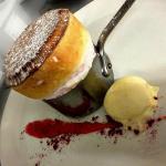 Yorkshire rhubarb souflee