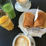Breakfast in nearby cafe!