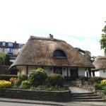 Thatched pub across the road