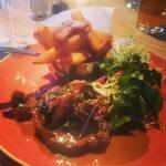 Rib-eye steak - absolutely delicious!