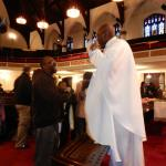 Greeting Members and Visitors after service