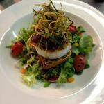 Goats cheese salad with onion marmalade
