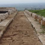 romersk väg rakt ut i intet
