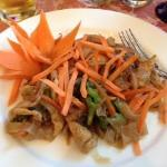 Pad kee mow at Thai Pot