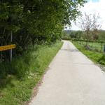 The road to the B and B, really just a paved farm lane. Idyllic!