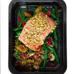 Cashew Salmon, Quinoa, Asparagus Salad
