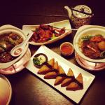Slow Cooked Beef Brisket Hot Pot, Honey Pepper Glazed Pork Chops, Sesame Prawn Toast & XO Prawn