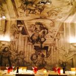 Murals in the dining room.