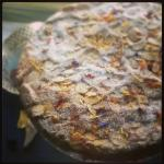 Spanish Almond Torte with Edible Wild Flower Confetti