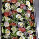 Full tray garden salad