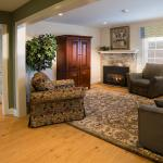 Cozy living area of The Hershey Suite