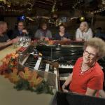 For over 50 years Piano Pat has been singing at the Sip 'n Dip Lounge.