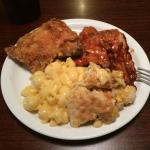 Fried chicken (fair), pork rib bbq (tough!), mac n cheese (poor), and chicken pot pie (outstandi