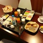 Turkish Breakfast served into the room