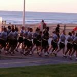 I loved the pride in the military cadence as they jogged down the boardwalk with the beautiful s