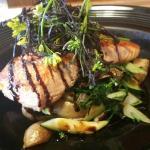 Pan seared local salmon. Amazing!