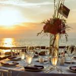 Table set-up at sunset