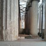 Row of Doric columns, close to completion