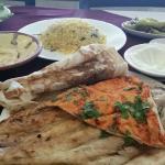 Grilled hamour and khaleeji rice