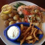 Red Lobster - customized seafood combo plate
