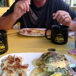 Beach Shanty South. Noel is amazing and so were the eggs Benedict.