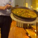 Traditional Paella Valenciana worth the 45 minute wait. Great atmosphere, excellent service. Rea