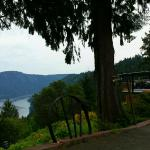 Looking down Finlayson Arm at the Malahat Mountain Inn