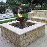 Firepit near pool & patio