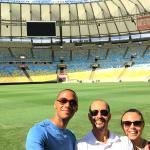 Sur la pelouse du stade Maracana