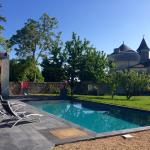 Pool by the chateau