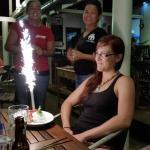 Staff singing Happy Birthday