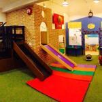 Play area at Jollytots & Cookies