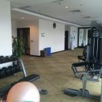 Air conditioned, awesome views, new equipment. Supplied towels and even the option for workout