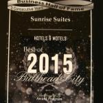 Sunrise Suites Receives 2015 Bullhead City Business Hall of Fame Award