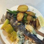 Trout - very generous with self-serve vegetables & salad from buffet