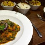 Vegetarian Indian food - paneer