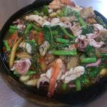 Spicy Seafood on Hot Plate