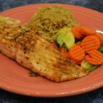 Grilled Salmon Dinner with choice of 2 sides