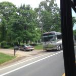 Phil Vassar's tour bus and driveway