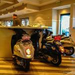 Cuttlefiish Oyster Bar with moped seating