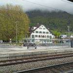Hotel beside the tracks Zurich to Sargans, quiet trains, we were in the back side of the hotel